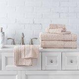 Annaleice 6 Piece 100% Cotton Towel Set (Set of 6)