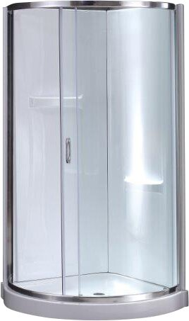 Breeze Premium 34 X 76 Round Sliding Shower Enclosure With Base Included