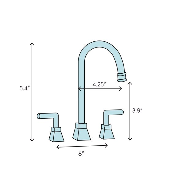 Kingston Brass Jamestown Widespread Bathroom Faucet With Drain Assembly Wayfair