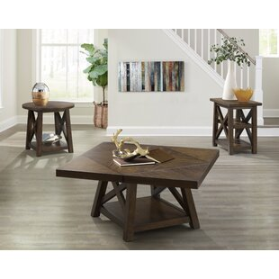 Gracie Oaks Scranton Flip Top 3 Piece Coffee Table Set