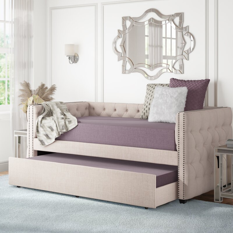 House Of Hampton Ghislain Twin Daybed With Trundle Reviews Wayfair