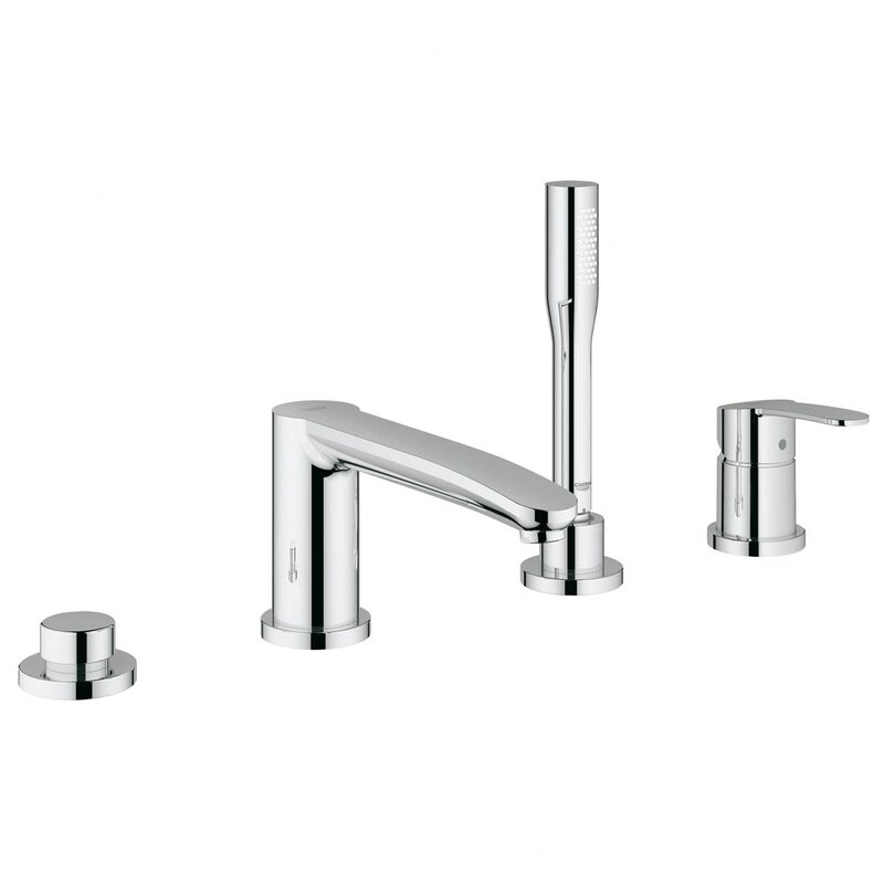 Grohe Eurostyle Two Handle Deck Mounted Roman Tub Faucet with Hand ...