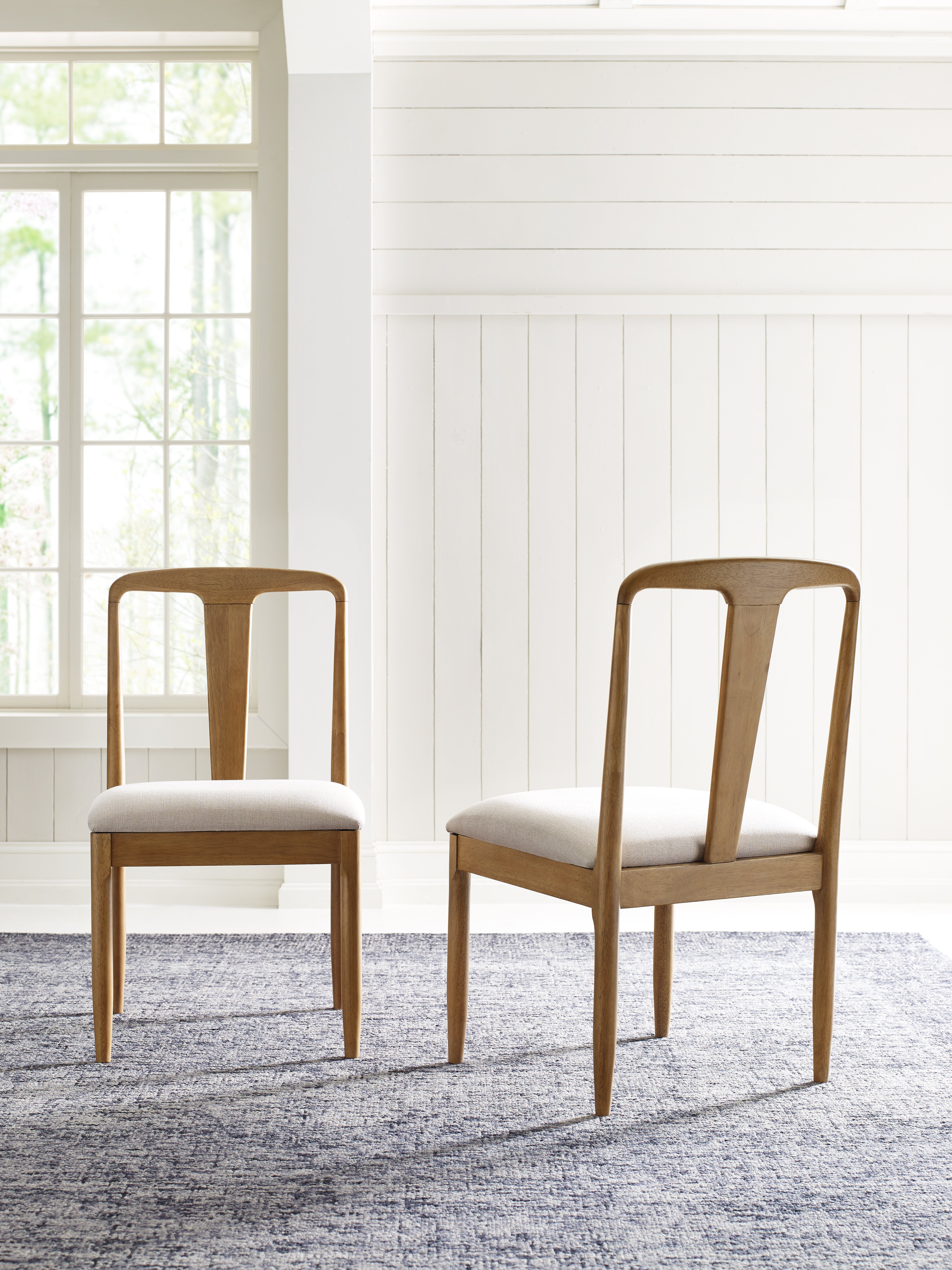 Hygge Upholstered Slat Back Side Chair In Cashmere Reviews Joss Main