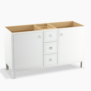 Jacquard 60 Vanity Base with Furniture Legs, 2 Doors and 3 Drawers by Kohler