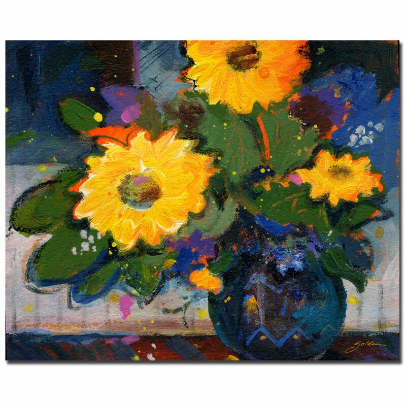 Trademark Art Tree Yellow Flowers By Sheila Golden Framed Painting Print On Wrapped Canvas Wayfair