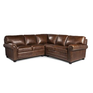 Darby Home Co Jameown Leather Modular Sectional