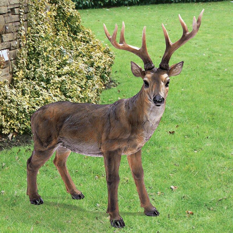 Rack Buck Deer Statue