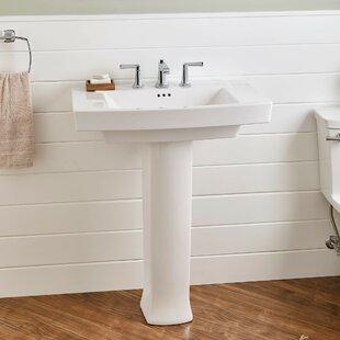 Comparison Townsend 30 Pedestal Bathroom Sink with Overflow ByAmerican Standard
