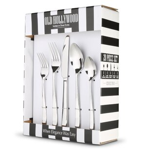 Larrick Old Hollywood 20 Piece Flatware Set, Service for 4