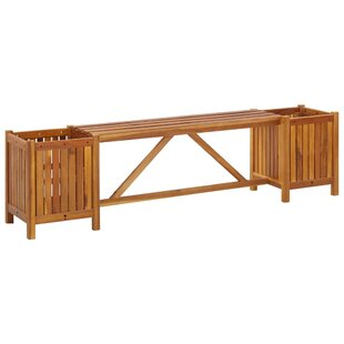 Lauro Wooden Planter Bench By Sol 72 Outdoor