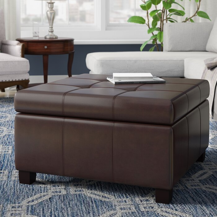 Magnificent Quentin Tufted Storage Ottoman Pabps2019 Chair Design Images Pabps2019Com