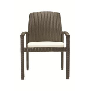 Evo Stacking Patio Dining Chair with Cushion