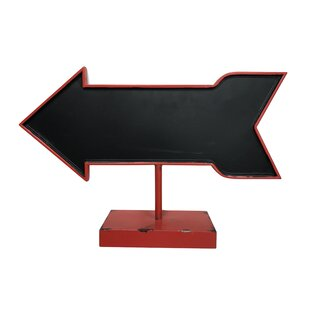 Arrow Free Standing Chalkboard by Wilco Home