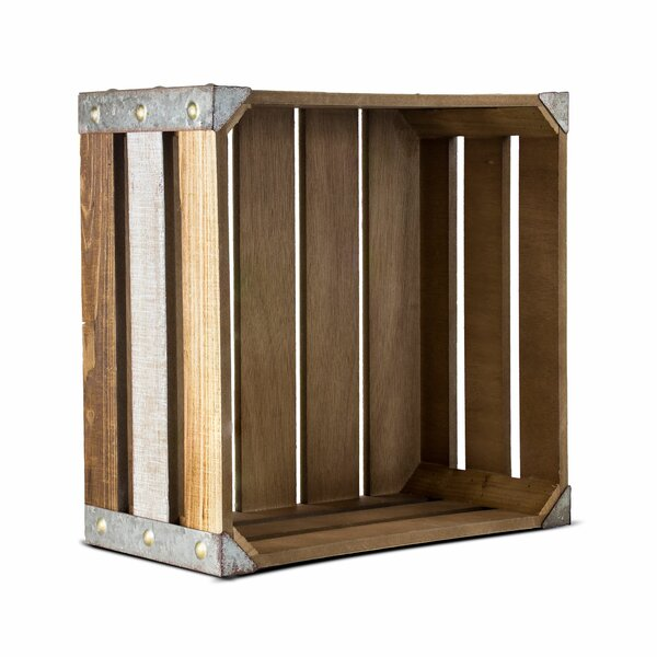 Authentic Rustic Look Grey Wooden Apple Planting Tray Box Crate Carrying Handles
