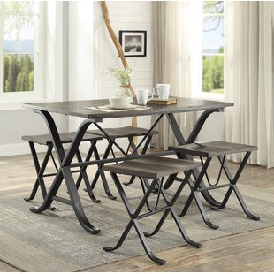 Dolan 5 Piece Dining Set by Williston Forge