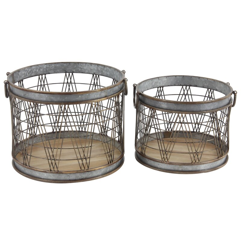 decorative bathroom hardware sets.htm williston forge industrial cylindrical 2 piece metal wire storage  williston forge industrial cylindrical