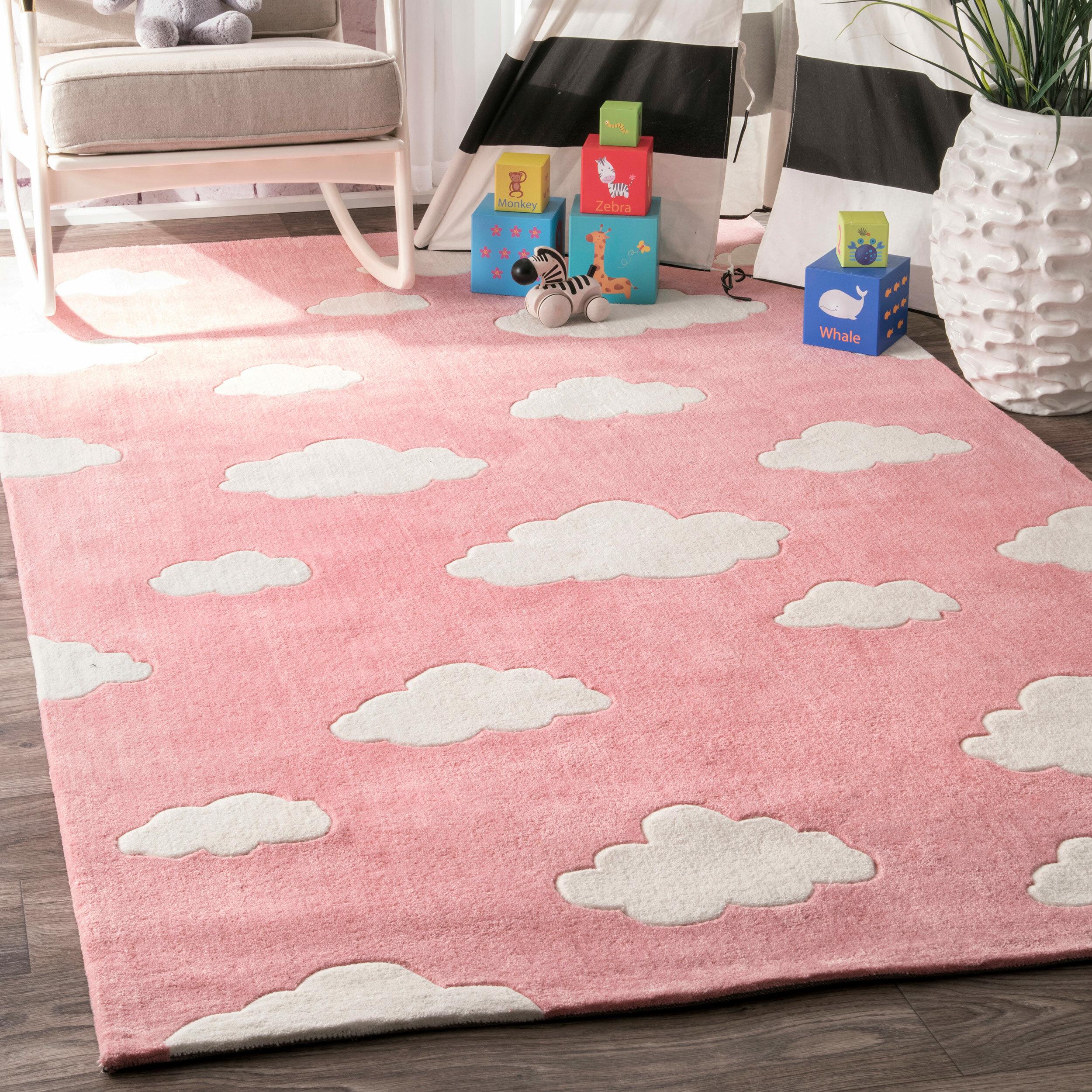 Viv Rae Lily Cloudy Sachiko Hand Tufted Pink Area Rug Reviews Wayfair