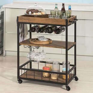 Mcdougald Bar Serving Kitchen Cart by Williston Forge