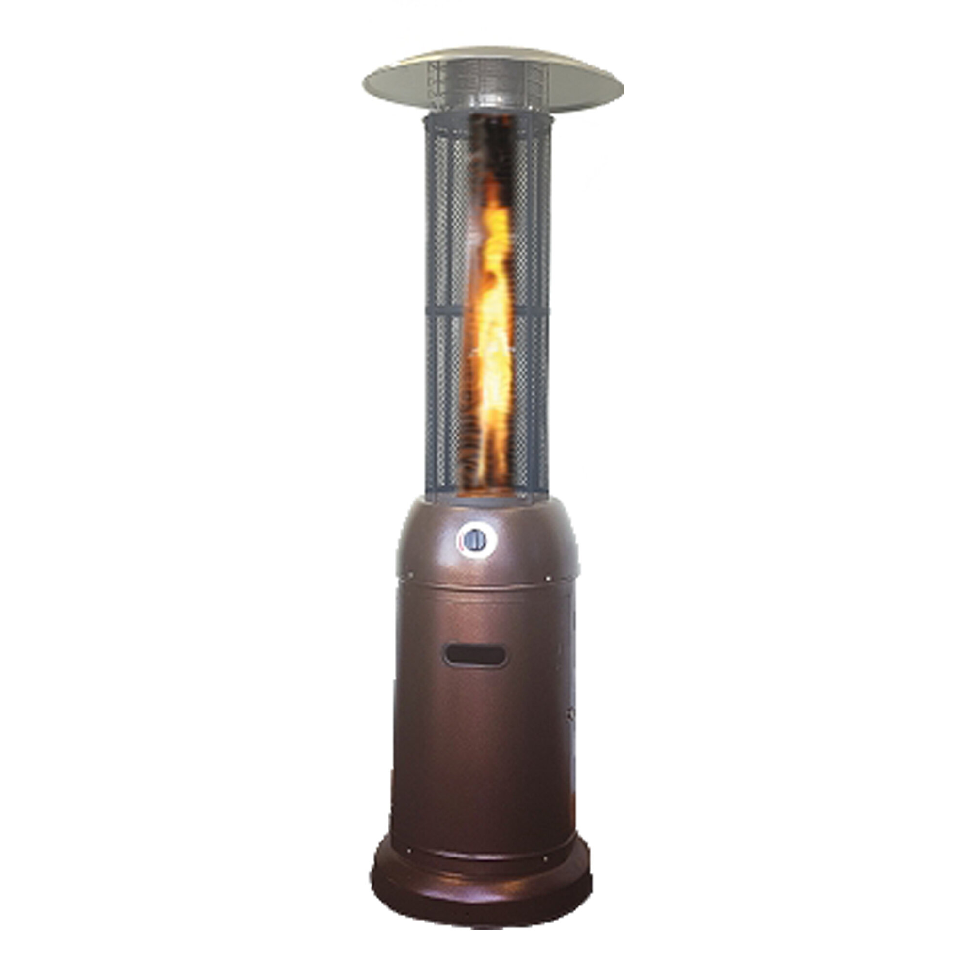 Beau SUNHEAT Flame Round Glass Tube 46,000 BTU Propane Patio Heater | Wayfair
