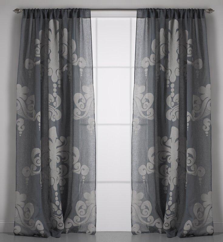 Couture Dreams Enchantique Toile Sheer Rod Pocket Single Curtain ...