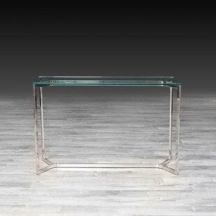 Orren Ellis Panek Glass Console Table
