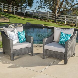 Wolfhurst Patio Chair with Cushion (Set of 2) By Andover Mills