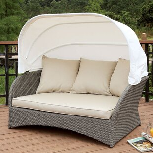 Lessman Patio Daybed With Cushions by Rosecliff Heights Cool