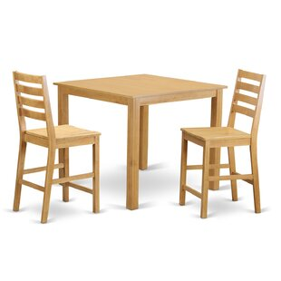 Café 3 Piece Counter Height Dining Set Wooden Importers