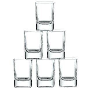 City Heavy Base Glass 2 oz. Every Day Glasses (Set of 6)