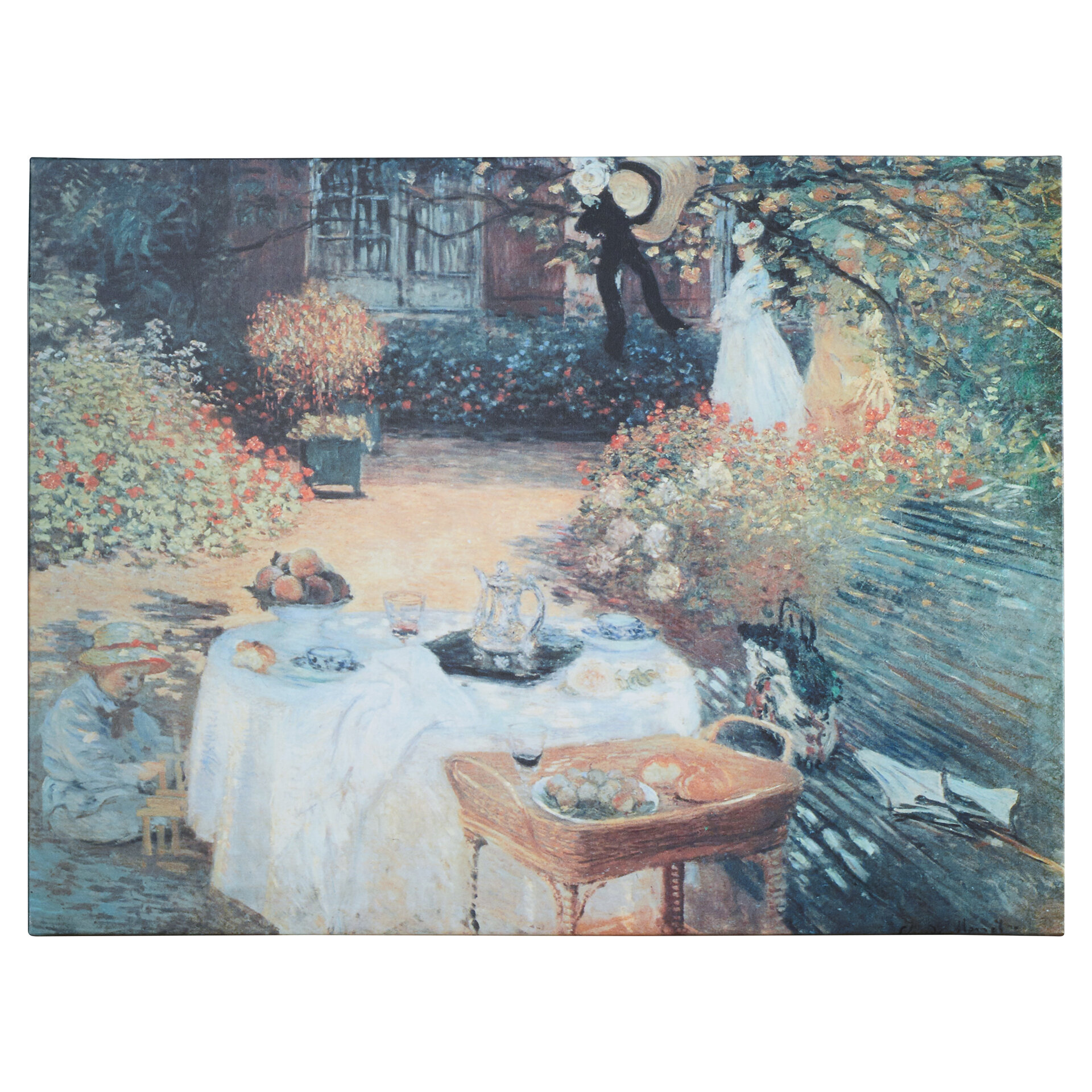 Woman with sunshade by Claude Monet Giclee Fine Art Print Reproduction on Canvas