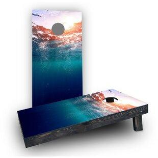 Custom Cornhole Boards Ocean Underwater Sunset Cornhole Boards (Set of 2)