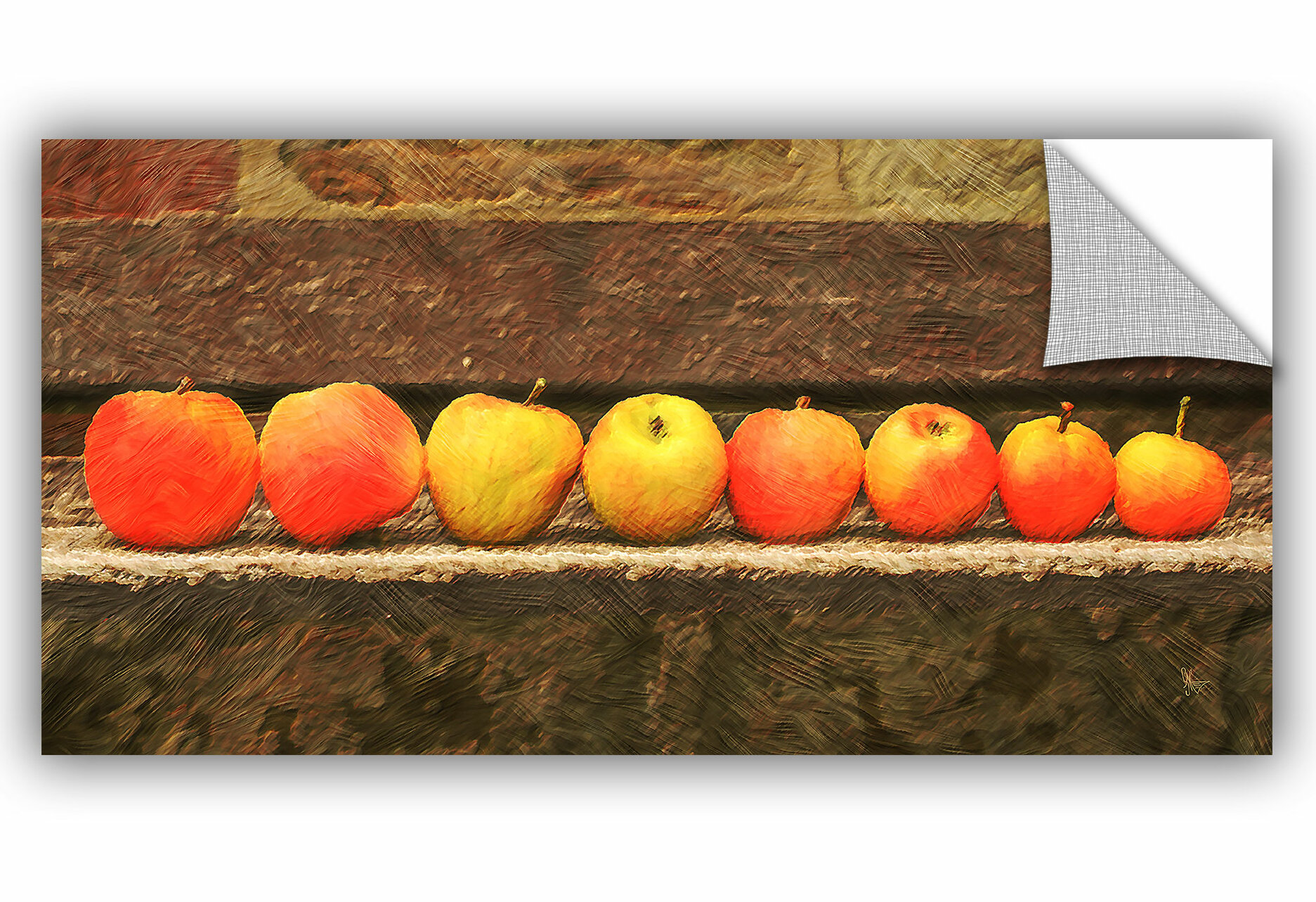 August Grove Wilkesville Apple Line Up Removable Wall Decal Wayfair