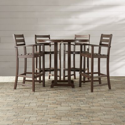 Monterey Bay 5 Piece Bar Height Dining Set by Trex Outdoor Cheap