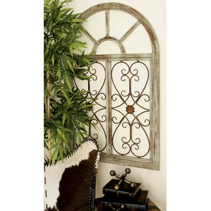 Wood And Metal Wall Art cream metal wall art you'll love | wayfair