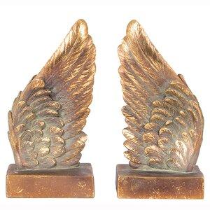Bücherstützen Polyresin Angel Wings von Pacifi..