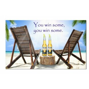 Corona Beach With Chairs Polyester 3' X 5' House Flag by NeoPlex