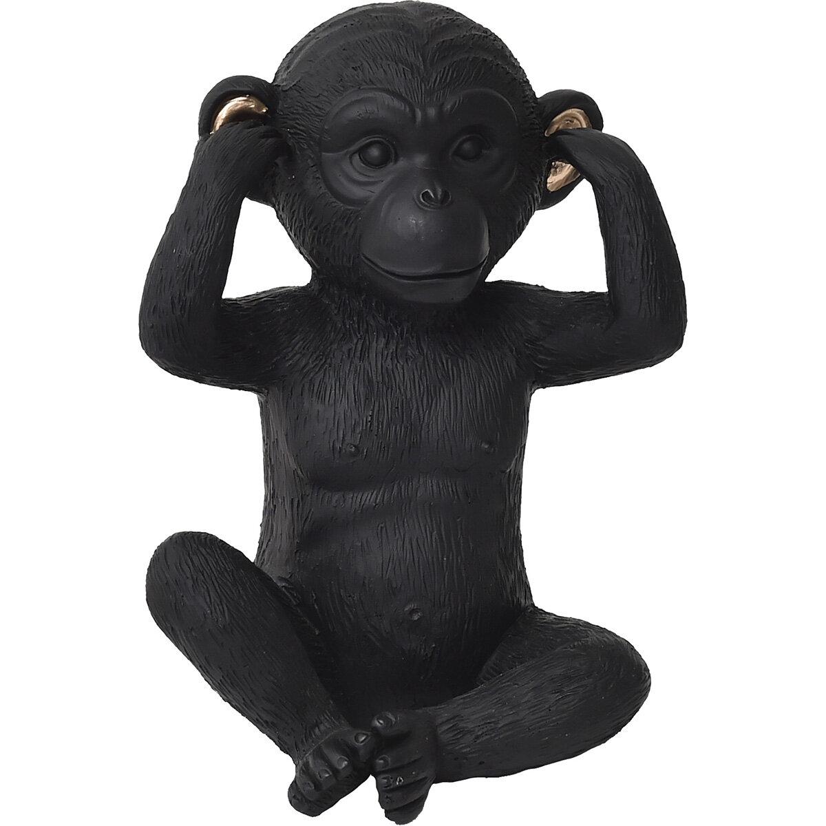 "Small 4/"" 3 Wise Monkeys See Speak Hear /""NO EVIL/"" Home Decor  Figurine 3 pcs set"
