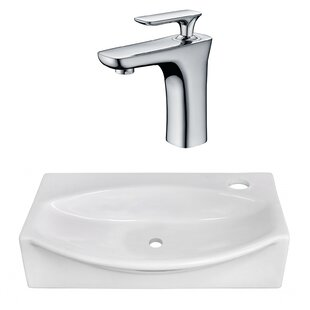 American Imaginations Ceramic Specialty Vessel Bathroom Sink with Faucet