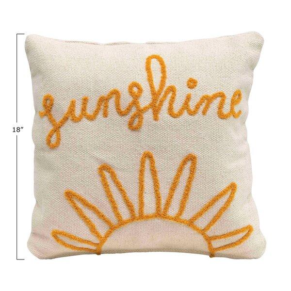 Lexi Sunshine Cotton Throw Pillow Birch Lane