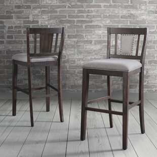 Suzann Slat Back 30 Bar Stool (Set Of 2) by Laurel Foundry Modern Farmhouse Best #1