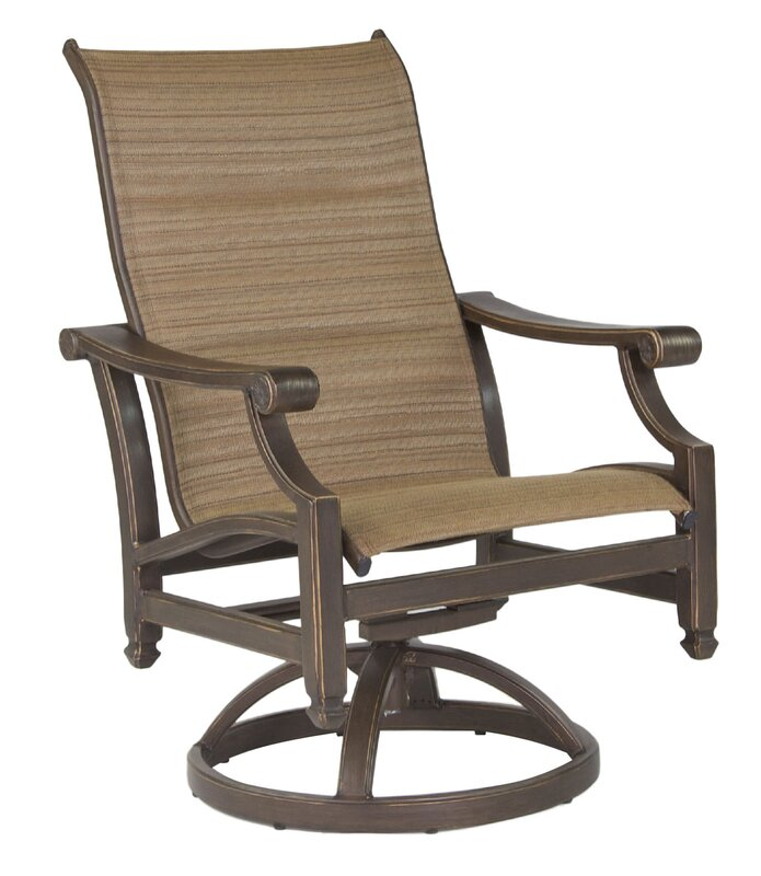 Superb Grand Regent Swivel Patio Dining Chair With Cushion