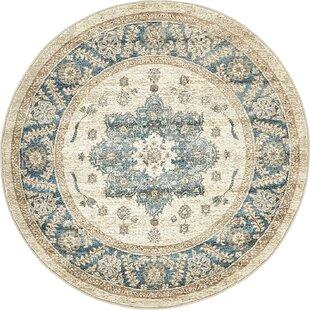 Jaiden Cream/Blue Area Rug by Birch Lane™ Heritage
