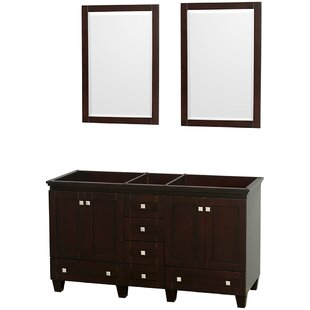 Acclaim 59 Double Bathroom Vanity Base by Wyndham Collection