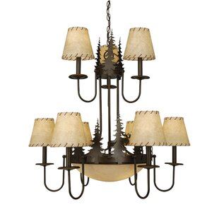 Loon Peak Ponton 9-Light Shaded Chandelier