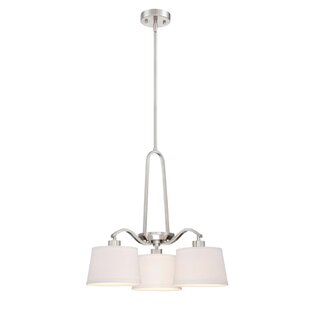 Wrought Studio Boadicea 3-Light Shaded Chandelier