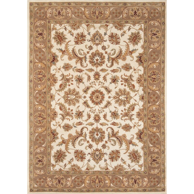 Astoria Grand Taylorsville Oriental Handmade Tufted Wool Ivory Mushroom Area Rug Wayfair