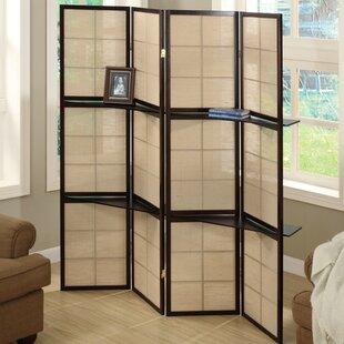 Monarch Specialties Inc. Display Shelf 4 Panel Room Divider