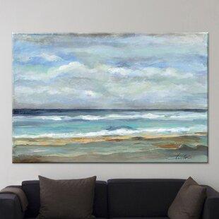 'Seashore' by Silvia Vassileva Painting Print on Canvas