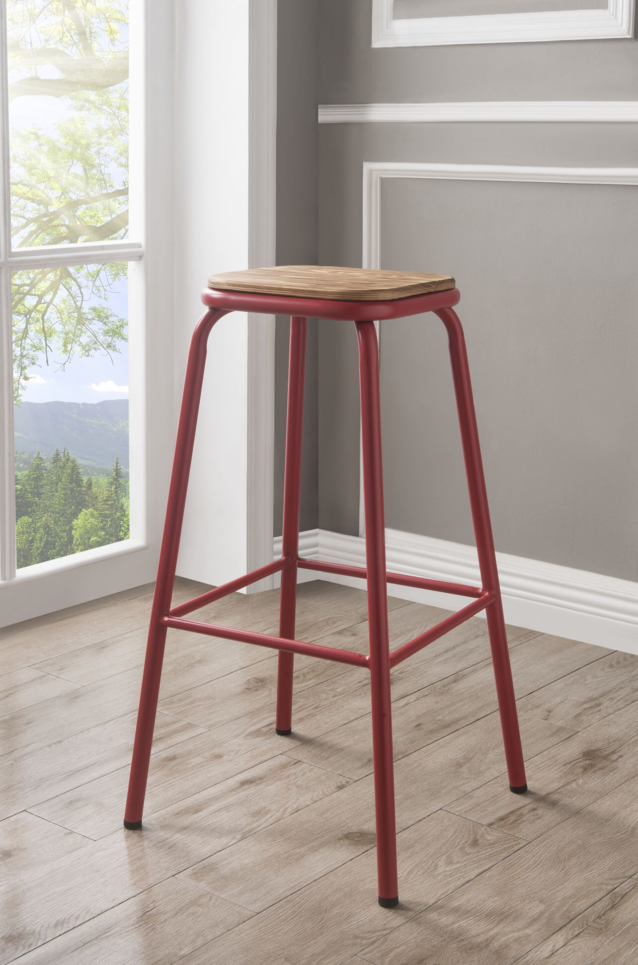 2 Red Bar Height Bar Stools You Ll Love In 2021 Wayfair