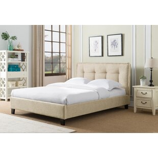 Almaguer Upholstered Platform Bed by Wrought Studio Spacial Price